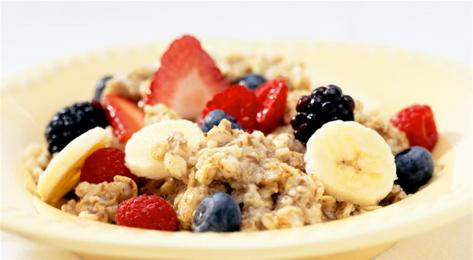 fruits-oatmeal