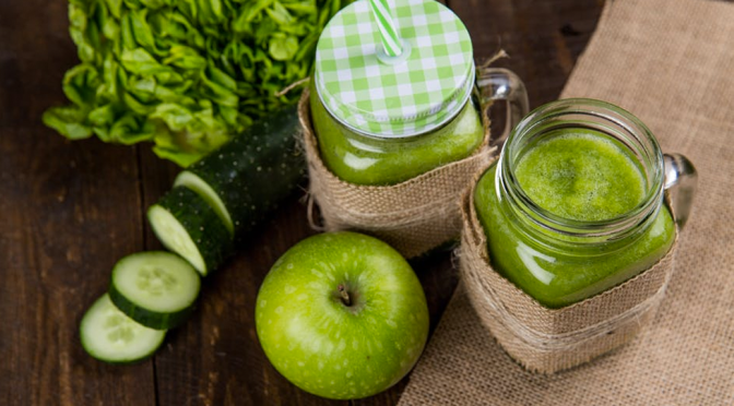 Recharge with Green Apple Cucumber Smoothie